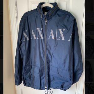 A/X Armani Exchange Logo hidden hoodie jacket